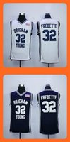baseball c - 2016 New Men s Jimmer Fredette Brigham Young C White Blue jerseys Top Quality Drop Shipping Accept Mixed orders Hot Selling