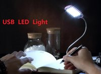 Wholesale 30pcs LED Light USB Lamp Night Reading Lamp Book Lights Soft Lighting Protect eyesight Good Quality Good Gift