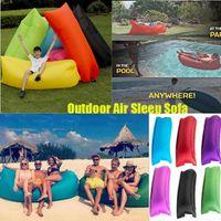Saco inflável rápido Hangout Lounger Air sono Camping Sofá KAISR Praia Nylon tecido saco de dormir cadeira cama preguiçoso almofadas ao ar livre dormir DHL