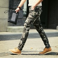 Wholesale M9044Tracyexp Man overalls Man pants piece full length button fly skinny cargo pants camouflage pants