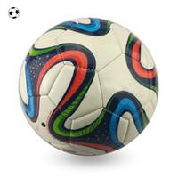 venda por atacado stitching machine-Tamanho 4 pedra colorida PVC máquina stitch Copa do Mundo de Futebol SPORTS SOCCER MATCH BALL com PRESENTE