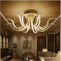 bedroom ceiling design - 2016 New design Minimalism Modern led ceiling light for living room bedroom lamparas de techo AC85 V white led ceiling lamp