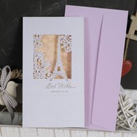 Wholesale gretting card present Beautifully carved Greeting card multi purpose card thank card WISH birthday card Creative birthday card contracted