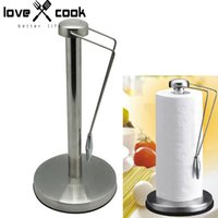 Cheap Wholesale-Stainless Steel Tissue Paper Holder Metal Kitchen Paper Stand Paper Towel Shelf Domestic Roll Paper Rack Kitchen Tools