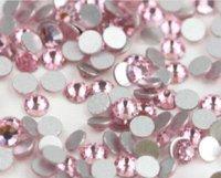 Wholesale 1440PCS SS3 mm Flat back SS LT ROSR Glitter Non Hotfix Light Pink Color Nail Art Flatback Rhinestones