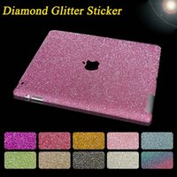 Wholesale Newest Ultra Thin Glitter Bling Diamond Stickers for iPad air mini Full Body Protection Film