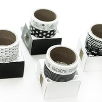 accounting white paper - Excellent black and white paper and Pai South Korea stationery tape pack DIY hand decorative stickers diary account