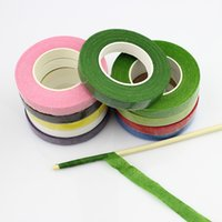 floral tape - 12mm Self adhesive Paper Tape Floral Stem for Garland Wreaths DIY Craft Artificial Silk Flower rolls
