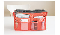 Wholesale women storage cosmetic bag Makeup Bag Purse MP3 Mp4 Phone Travel Insert Handbag Organizer fashion bag in bag Sundry Zipper Bag