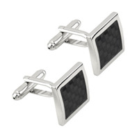 Wholesale Newest pair Vintage Men s Stainless Steel Silver Square Wedding Gift Grid Laser Cuff Links Drop Shipping