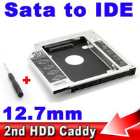 Wholesale 12 MM nd Caddy IDE to SATA Case quot Second Hard Disk Driver External SSD HDD Enclosure CD DVD ROM Bay for Laptop Tablet