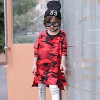 Wholesale Long Sleeved Dress Korean - Long Sleeve T Shirt Girls Tops Kids Wear Child Clothes Kids Clothing 2016 Autumn T-Shirt Korean Girl Dress Children T Shirts Lovekiss C28075