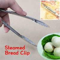 Wholesale Stainless Steel Tongs With Lock Design Grip For Kitchen Food Vegetable