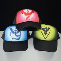 Wholesale Poke Go Hats pokémon Adjustable Snapbacks Fashion Pocket Monster Caps Valor Mystic Instinct Logo Sport Hat Cap Hip Hop Snapback for Sale