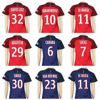 beckham shirt number - 2016 Women Soccer Jersey PSG Footbal Shirt Custom IBRAHIMOVIC Uniforms Woman Your Name Number BECKHAM LAVEZZI DI MARIA