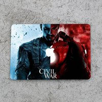 Wholesale Captain America And Iron Man Top Vinyl Front Cover Laptop Sticker For Apple Macbook Air Pro Retina inch Laptop Decal Skin