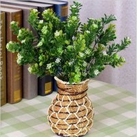 artificial bushes - Rustic Green Artificial Plants cm Length Branches Each Piece Aglaia Plastic Leaf Grass Bush Home Decoration Flowers