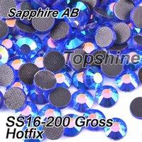 best gross - Best Quality Bulk Packing Gross SS16 Glass Material Sapphire AB DMC Hotfix Rhinestones