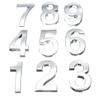 address number sign - 2016 Modern Silver House Hotel Door Address Plaque Number Digits Sticker Plate Sign Size x30x6mm Convinient Room Gate Number