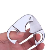 Wholesale New Silver Stainless Steel Blades Tobacco Cigar Cutter Scissors Dia mm
