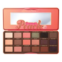 palette 18 color - NEW Sweet Peach color Eye Shadow Makeup EyeShadows Collection Palette with Gift Too faced Chocolate Bar Dhl