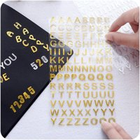 alphabet books lot - 24 Gold Silver Twinkle stickers Number Alphabet sticker for book photo phone Stationery School supplies