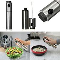 Wholesale Stainless Steel Olive Pump Spraying Bottle Sprayer Can Oil Jar Pot Tool E00213 BAR