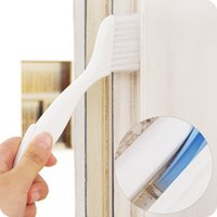 Wholesale 2in1 multipurpose window groove cleaning brush keyboard nook cranny dust shovel window track cleaning brushes pc color random