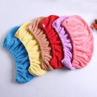 Wholesale women shower caps superfine fibre colours soft and hydrophil keep hair dry packing in bulk good quality