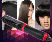 als china - ALS Hair Straightener Rotatable Power Line Button Control Straight Hair Comb KD Straightener Iron Brush US UK EU Plug OM CH6