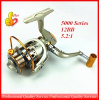 Wholesale 5000 Series Two speed Spinning Reel High and Low Gear Ratio Rear Drag System BB Drag Saltwater Fishing Reel New Product