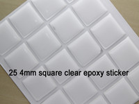 Wholesale freeshiping in a inch Square clear domed epoxy seal for DIY