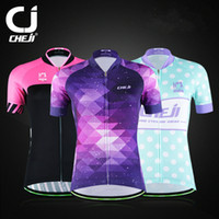 Wholesale New Styles Anti UV Women Red Pro Cycling Shirt Color Camisa Ciclismo Road Biking Jersey Racing Summer