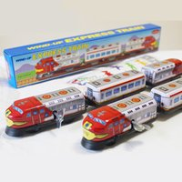 Wholesale Wind up Express Train China s Nostalgic Classic Tin Toys Cartoon Tinplate Home Desktop Decoration For Collection