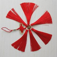beaded trim fringe - Red Trim cm Silk Trimmings Chinese Knot Knotted Tassel Fringe Beaded Trim Craft Straight