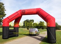 Wholesale 8x4m Inflatable double arch for outdoor advertising Promotions with blower