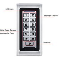 access entry systems - SIB Backlight Metal Shell IP68 Waterproof RFID KHZ EM Smart Card Entry Lock Keypad Standalone Door Access Control System F1217D