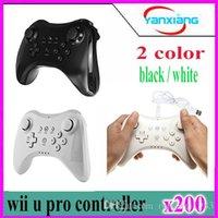 contrôleur lecteur bluetooth gamepad WiiU pro jeu 200pcs jeu joysticks double couleurs YX-WUII