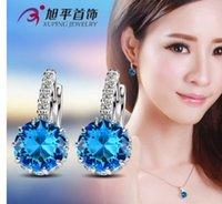 Wholesale fashion more color crystal diamond lady s earings