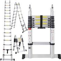 aluminum extension ladders - EN131 FT Aluminum Telescoping Telescopic Extension Ladder Tall Multi Purpose