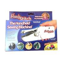 venda por atacado stitching machine-HOT Handy ponto Handheld Elétrica Máquina de costura mini portáteis sem fio Travel Home Com Logo embalagem de varejo
