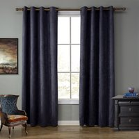 Wholesale Solid Blackout Red Color Curtain with ring without Rod for living room kids room bedroom windows
