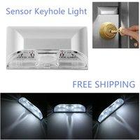 Wholesale 2016 hot sale wirless sensor LED keyhole light dry battery power easily installed removable