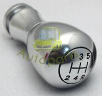 Wholesale Aluminum metal momo Manual Gear Shift Knobs stick shift knob Chrome color silver Freeshipping shift gear knob