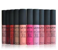 Wholesale NYX soft matte dull liquid NYX lipstick vintage long lasting NYX lip gloss newest high quality products