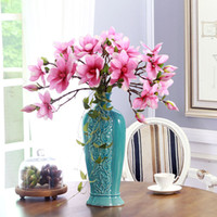 Wholesale High grade simulation flower single brach flowers Magnolia flower Environmental protection household adornment flowers