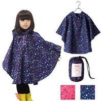 Wholesale Boy Girl Children Kids Raincoat Rain Coat Rainwear Rain Suit Poncho Cape Hooded S M L XL