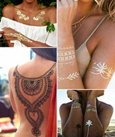Wholesale Metallic temporary tattoo gold jewelry tattoo designs hot sexy tattoo sticker with high quality and reasonable price