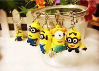 Wholesale Despicable Me Minions keychain funny toys keyring for decoration kid s toys
