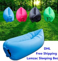 Cheap Fast Inflatable laybag Sleeping Bag Hangout Lounger Air Camping Sofa Beach Nylon Fabric sleep Bed Lazy Chair
